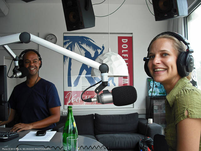 Interview at local radio station with Claartje Visser (Paul Selvaggio)